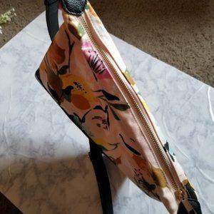 a new day Bags - Floral Crossbody Bag Purse Pink Zipper Pockets